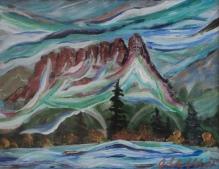 Castle Mountain, #20004, $250, Acrylic, 8x10
