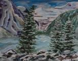 Lake Louise, #17051, $250, Acrylic, 8x10