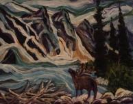 Moraine Lake, #17083, $250, Acrylic, 8x10