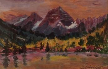 Mountain Majesty, #20002, $210, Acrylic, 7x10