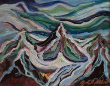 Sunset, #17078, $250, Acrylic, 8x10