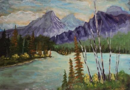 Wild Wilderness, #18055, $575, Acrylic, 12x16,