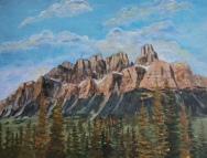 Castle Mountain, #20010, $950, Acrylic, 16x20