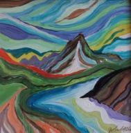 Magical Mountain, #20008, $300, Acrylic, 10x10