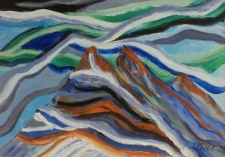 The Rundle Dinosaur, #20007, $95, Acrylic, 5x7