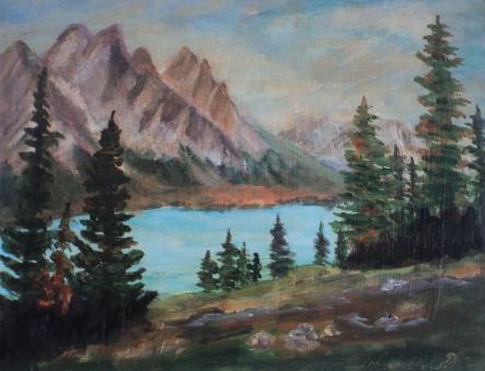Wilderness Wonder, #20009, $250, Acrylic, 8x10