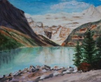 Lake Louise, #20011, $250, Acrylic, 8x10
