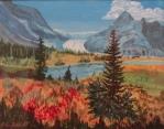 Rocky Mountain Glacier, #20015, $750. Acrylic, 16x20