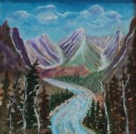 Million Dollar View, Banff Fairmont, #21002, $300 Acrylic, 10x10