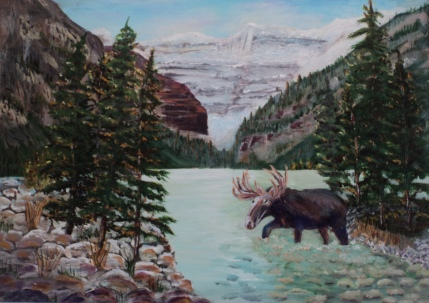 Lake Louise, #15047, $950, Acrylic, 16x22