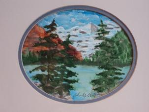 Lake Louise, #21004, $80, Acrylic, 5.5x5.5