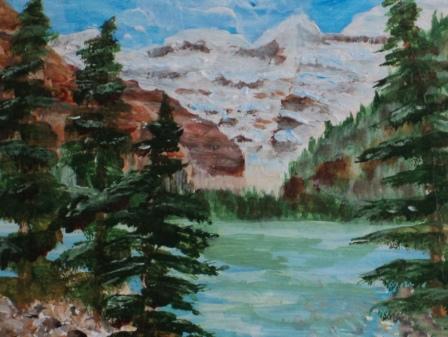 Lake Louise,#21003, $250, Acrylic, 8x10