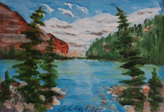 Lake Louise, #21006, $100, Acrylic, 5x7