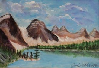 Moraine Lake, #21005, $100, Acrylic, 5x7